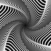 Постер, плакат: Design Whirlpool Movement Illusion Background