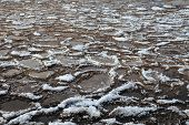 foto of crevasse  - Chunks of ice into the sea in spring - JPG