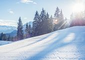 image of bavarian alps  - Mountain skiing in Garmisch - JPG