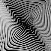 stock photo of distort  - Design monochrome whirl ellipse motion background - JPG