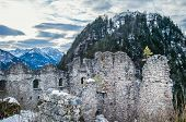 foto of mountain-ash  - View point in the Ehrenberg castle in Titol Alps Austria observing the ashes and the mountains - JPG