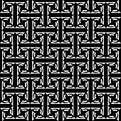 Seamless decorative labyrinthine pattern.