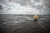 Buoy In The Wadden Sea, An Unesco World Heritage Site