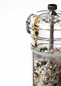 Grinder With Rock Salt And Herbs