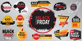 Black Friday Sale Collection Banner  Vector Illustration With Inscription.  Set Of Black Friday Sale poster