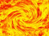 Fractal image representing an abstract massive fire storm vortex.