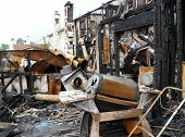 pic of mayhem  - Remains of a house fire in Virginia Beach Virginia - JPG