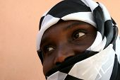 abeautiful african Muslim woman with veil, Zimbabwe