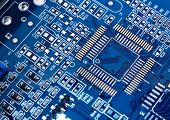 Macro of printed circuit board - computer motherboard