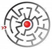 Round simple maze
