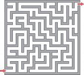 Vector illustration of gray maze