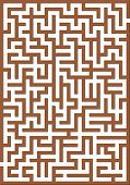 Brown labyrinth