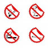 Modern No Smoking Symbols
