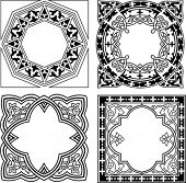 Black And White Various Quad Ornament