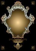 Decorative Gold Royal Ornate Banner