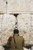 Praying At The Wailing Wall (western wall) , Jerusalem, Israel