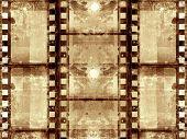Computer designed grunge film frame background