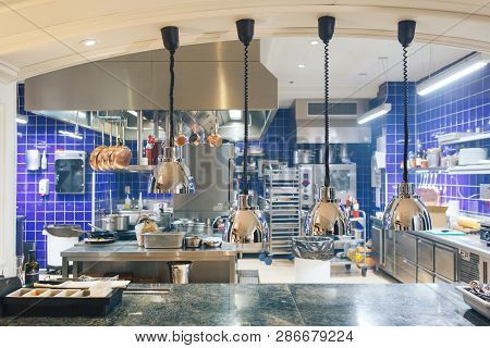 poster of Professional Kitchen In A Restaurant. Interior Of Kitchen In Restaurant
