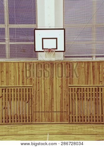 Basketball Hoop In The High