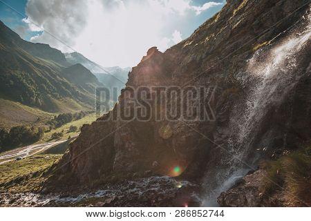 Mountain River Baksan Ravine Adyrsu