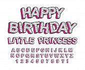 Set Of Cute 3d Letters Of The English Alphabet. Suitable For Banner Design, Picture For Birthday Inv poster
