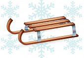 pic of luge  - Vintage wooden sled - JPG
