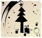 Árvore de Natal do grunge, vetor
