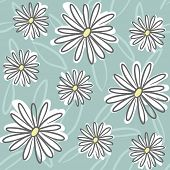 Floral seamless Pattern with Daisy Zeichnung, Vektor-illustration