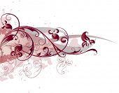 Composição vetorial de rosa com flores