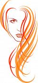 pic of red hair  - Vector illustration of a young girl - JPG