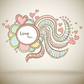 Love greeting card for Mothers day or Valentine