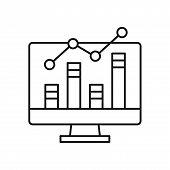 Analytics Icon Isolated On White Background. Analytics Icon In Trendy Design Style. Analytics Vector poster