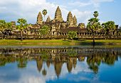 Angkor Wat Before Sunset, Cambodia.