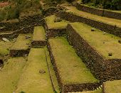 Inca agriculture terraces and stairs