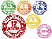 Set Of Warranty Stamps