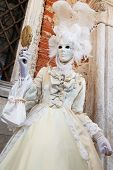 Carnival of Venice. Colorful carnival masks at a traditional festival in Venice, Italy. Beautiful ma poster