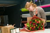 Florist Working In A Store