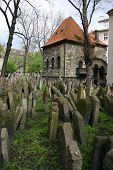 Old Jewish Cemetery in Pague, Czech Republic