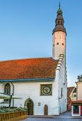 Church Of The Holy Spirit Is A Medieval Lutheran Church In The Old Town District Of Tallinn, Estonia poster