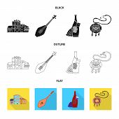 Vector Design Of Culture And Sightseeing Icon. Collection Of Culture And Originality Stock Symbol Fo poster