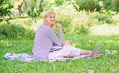 Woman With Laptop Sit Grass Meadow. Best Jobs To Work Remotely. Business Lady Freelance Work Outdoor poster