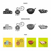 Vector Illustration Of Culture And Sightseeing Logo. Set Of Culture And Originality Vector Icon For  poster