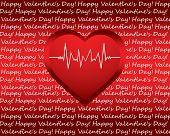 Fondo especial de San Valentín con corazón