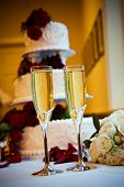 Champagne And Wedding Cake