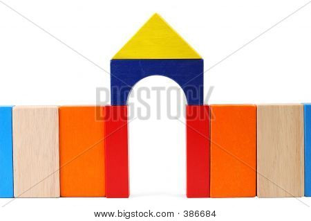 Picture or Photo of Baby blocks figure - gate.