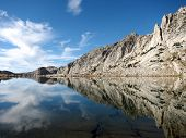 Beautiful lake with Sierra mountain reflection, California