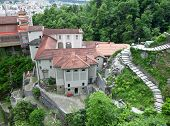 Medieval monastery in Switzerland. Madonna del Sasso