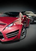 Sports cars. Non-branded car design.