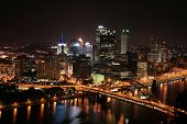 Pittsburgh\'s Skyline At Night