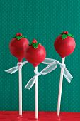 Red Christmas Cake Pops